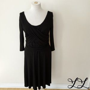 Bianca Nygard Dress Black Jersey Stretch Soft 3/4